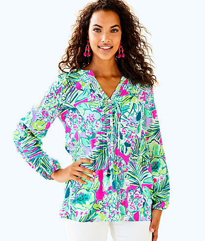 Harbour Island Tunic, Multi Early Bloomer, large