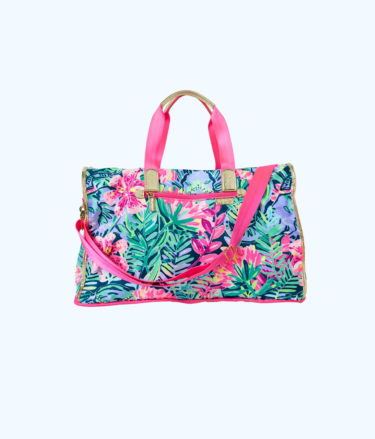 Lilly Pulitzer Palm Packable Weekender Tote Bag