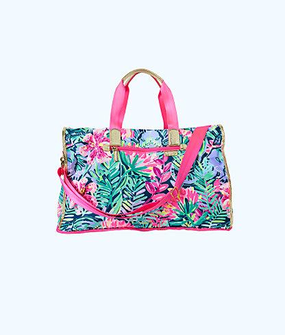 Palm Packable Weekender Tote Bag, Multi Slathouse Soiree, large