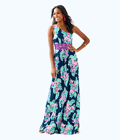 Malia Maxi Dress, Inky Navy Peanut Gallery Engineered Maxi Dress, large