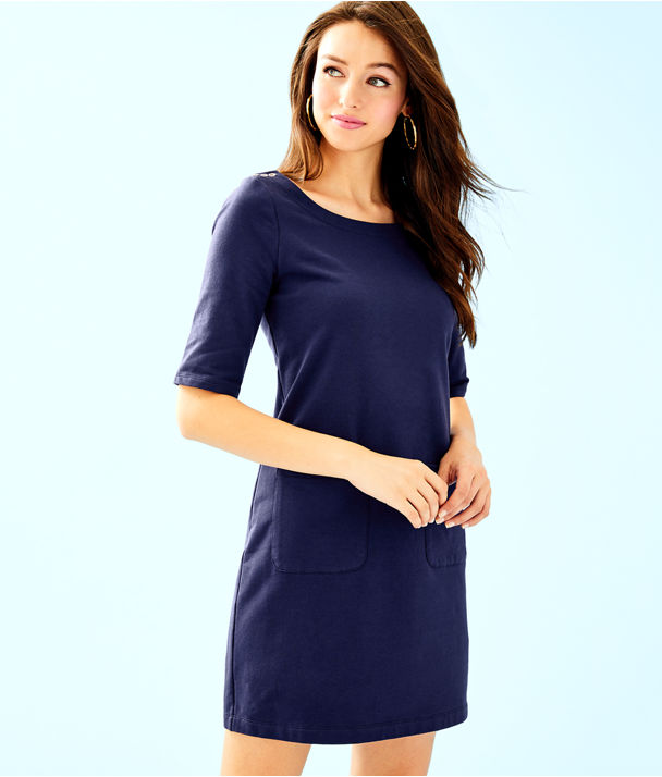 Lilah Dress, True Navy, large