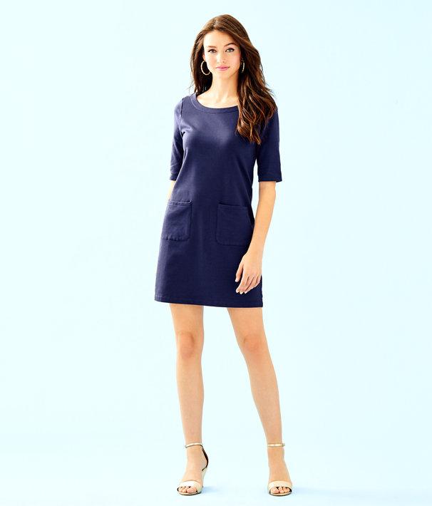 Lilah Dress, True Navy, large