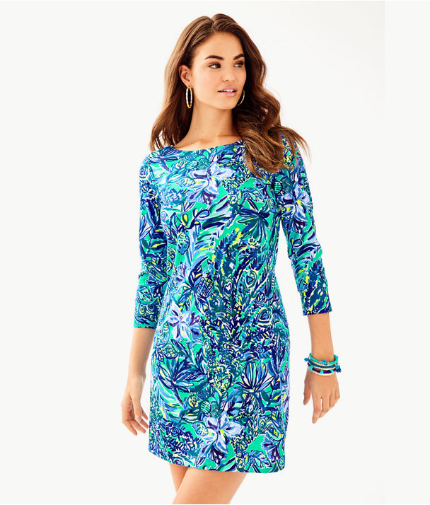 Hollee Dress, Bennet Blue Sneak A Beak, large
