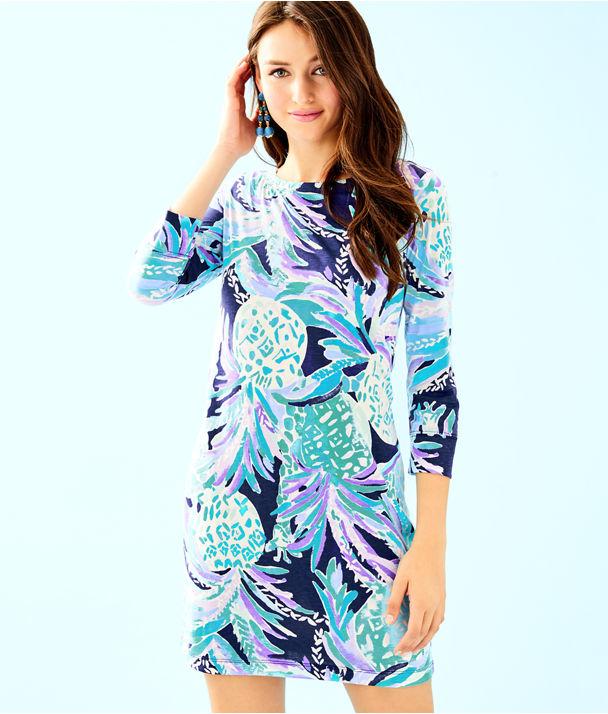 Hollee Dress, Bright Navy Alotta Colada, large