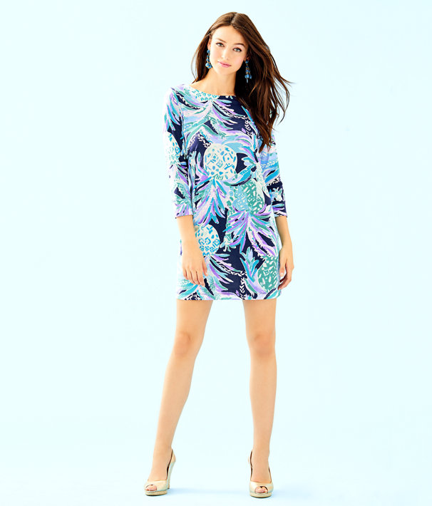 Hollee Dress, Bright Navy Alotta Colada, large