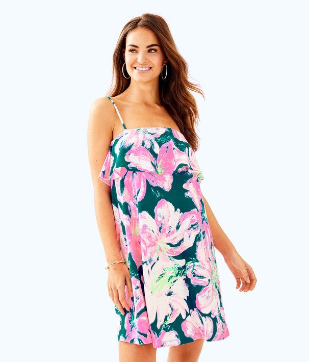 Annastasha Dress, Tidal Wave Pans Garden, large