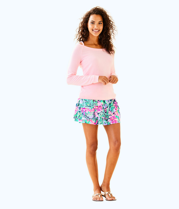 Luxletic Bungalo Sweatshirt, Coral Reef Tint, large