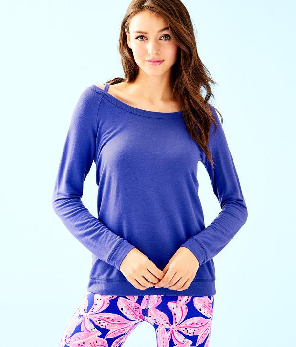 Luxletic Bungalo Sweatshirt, Royal Purple, large