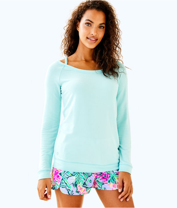 Luxletic Bungalo Sweatshirt, Seasalt Blue, large
