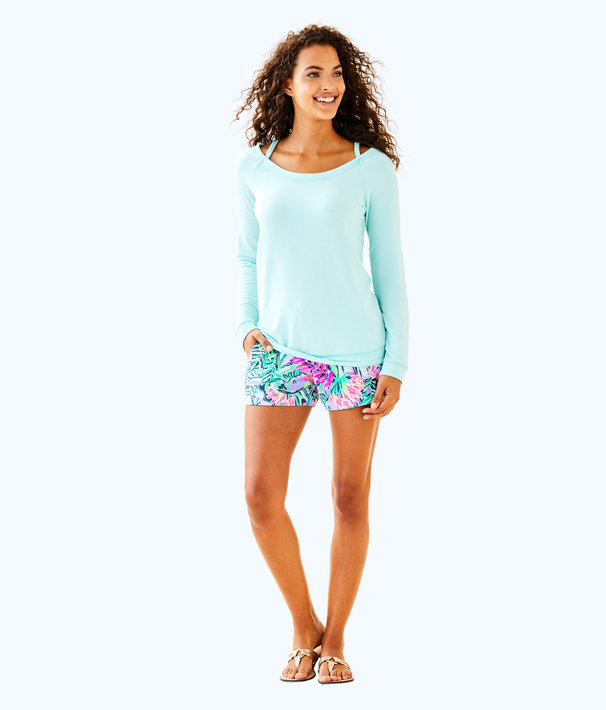 Luxletic Bungalo Sweatshirt, Seasalt Blue, large
