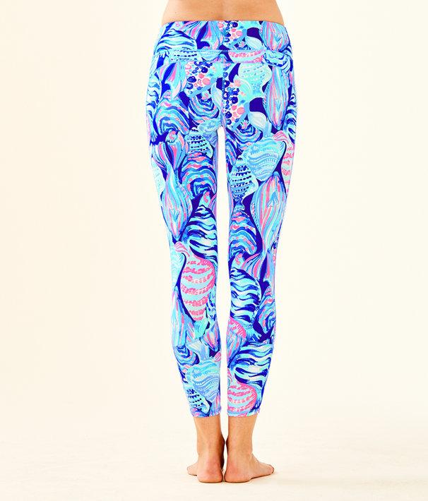 "UPF 50+ Luxletic 24"" Tamara Weekender Midi Legging, Twilight Blue Scale Up, large"