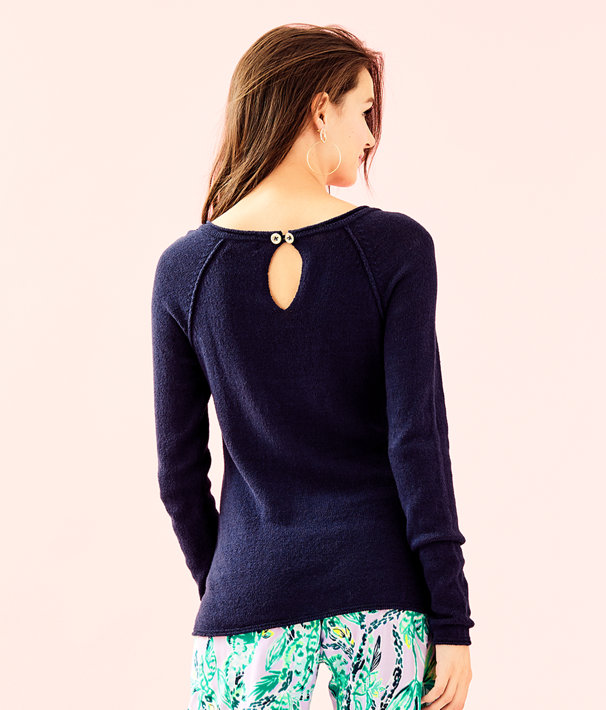 Petrina Sweater, True Navy, large