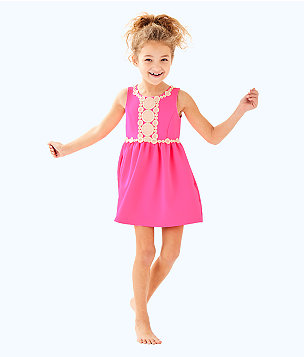 Girls Baylee Dress, Pink Sunset, large