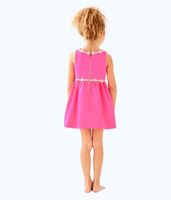 Girls Baylee Dress, Pink Sunset, large