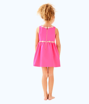 Girls Baylee Dress, Pink Sunset, large 1