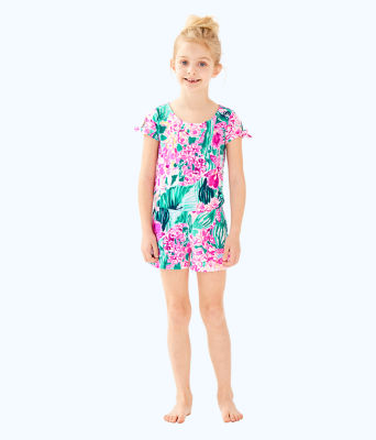Girls Camryn Romper, Multi Via Flora, large