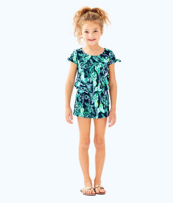 Girls Camryn Romper, Tidal Wave In The Details, large