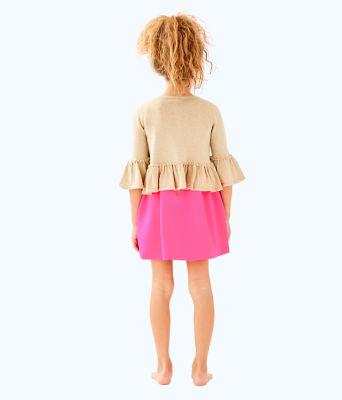 Girls Langley Sweater, Gold Metallic, large 1