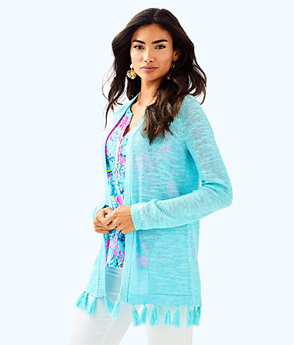 Edita Cardigan, Seasalt Blue, large