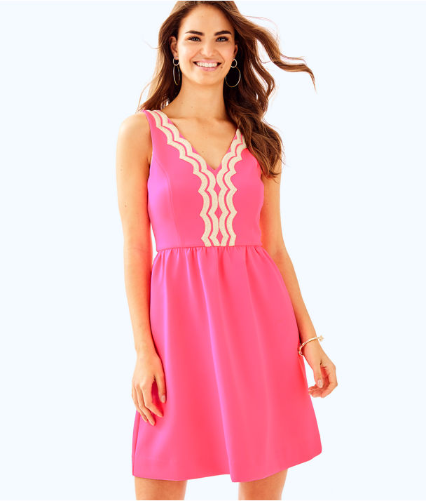Rorey Dress, Pink Sunset, large
