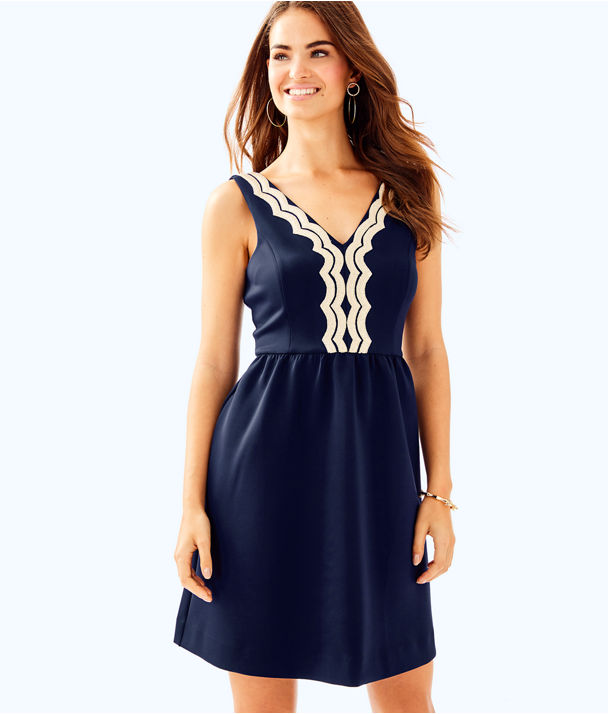 Rorey Dress, True Navy, large