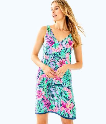 Florin Reversible Sleeveless V-Neck Dress, , large