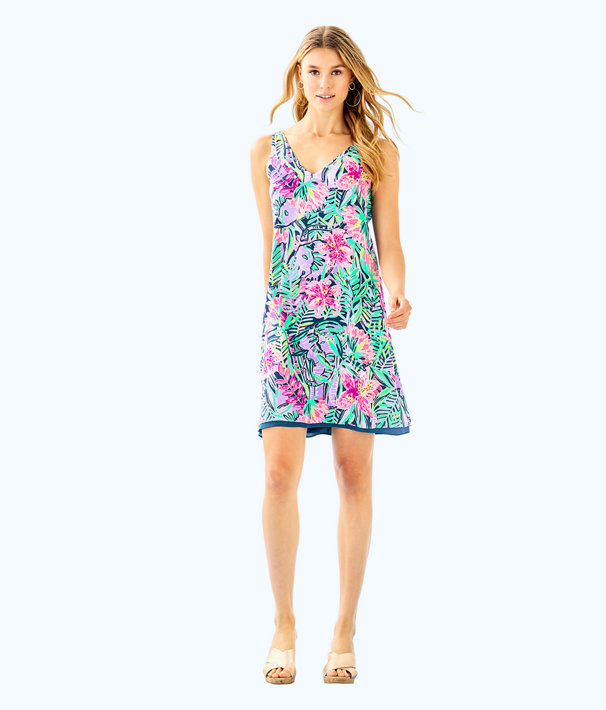 Florin Reversible Sleeveless V-Neck Dress, Multi Slathouse Soiree, large