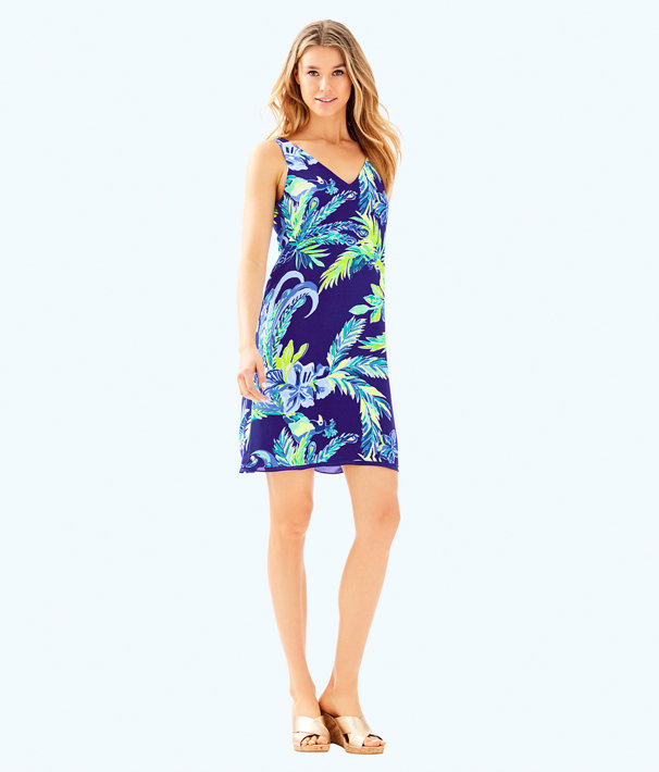 Florin Reversible Sleeveless V-Neck Dress, Twilight Blue Nest To Nothing, large