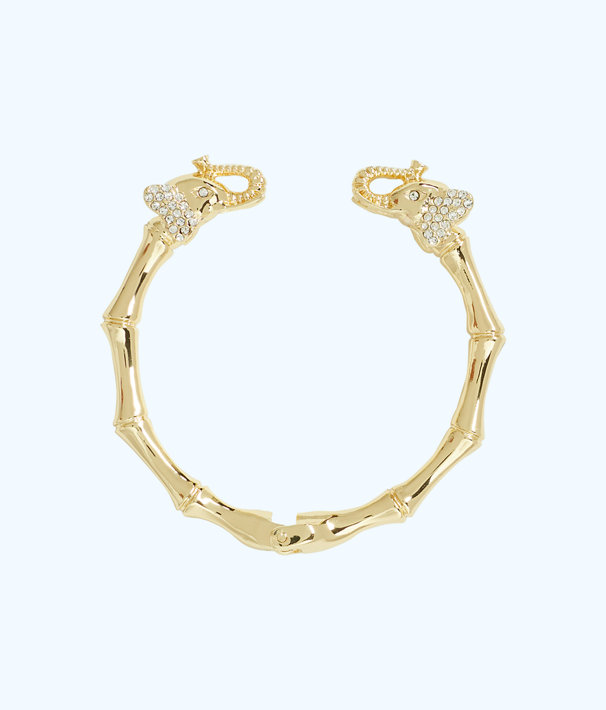 Glam Elephant Bracelet Gold Metallic Large