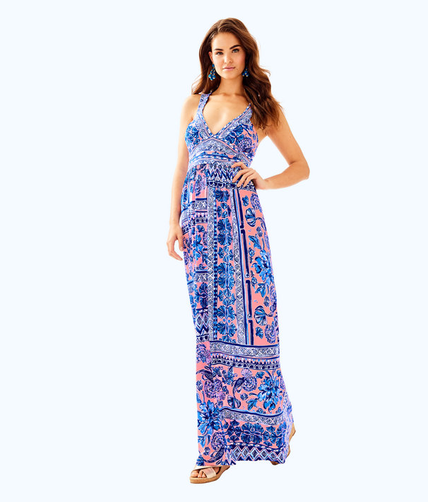 Taryn Maxi Dress, Melon Fig Ginger Jar, large