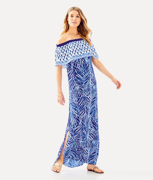 Alicia Off The Shoulder Maxi Dress, , large