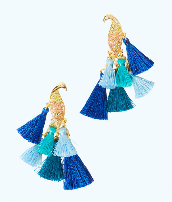 Nom de Plume Earrings, Multi, large