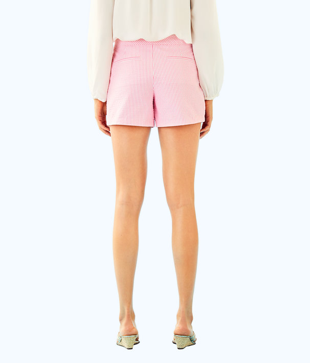 "5"" Callahan Party Short, Pink Cosmo Yarn Dyed Stripe Seersucker, large"