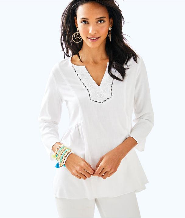 Lyndsea Tunic, Resort White, large