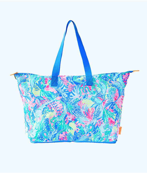Getaway Packable Tote, Multi Mermaids Cove, large