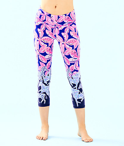 "UPF 50+ Luxletic 21"" Jolena Weekender Cropped Legging, Royal Purple Wild Child Engineered Luxletic, large"