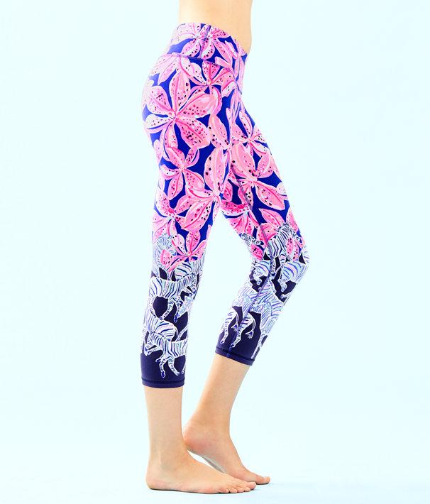 """UPF 50+ Luxletic 21"""" Jolena Weekender Cropped Legging, Royal Purple Wild Child Engineered Luxletic, large"""