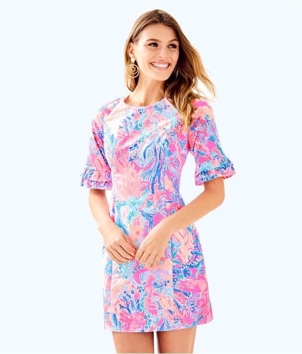Fiesta Stretch Dress, Light Pascha Pink Aquadesiac, large