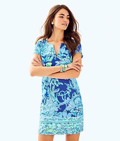 UPF 50+ Sophiletta Dress, Blue Current Sea Sirens Eng Sophiletta Dress, large