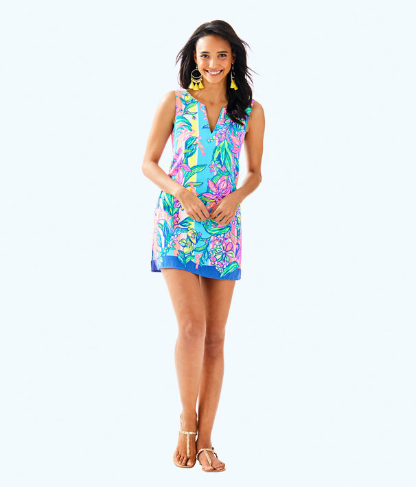 Donna Romper, Multi Easy Tiger Engineered Romper, large