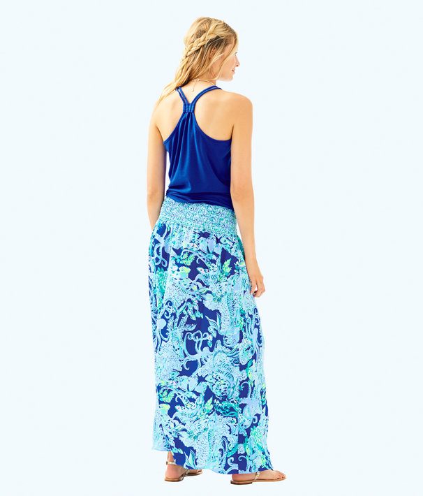 Bohdi Maxi Skirt, Blue Current Sea Sirens, large
