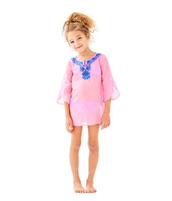 Girls Mini Piet Cover Up, Pink Sunset, large