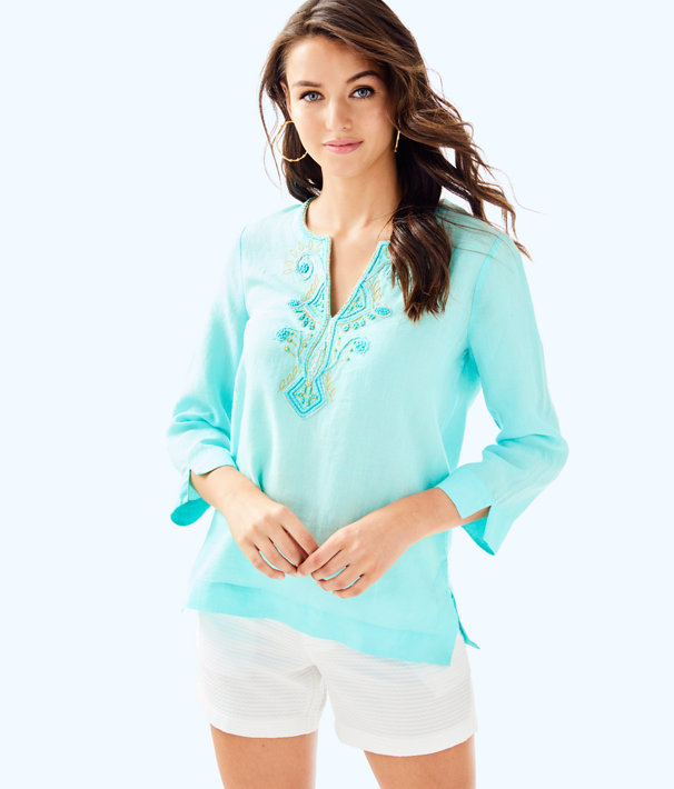 Amelia Island Tunic, Seasalt Blue, large
