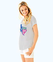 Lilly Loves Texas Colie Top, Multi Lilly Loves Texas Graphic, large