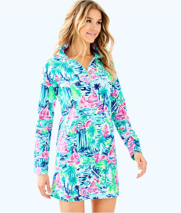 UPF 50+ Skipper Printed Popover Dress, Multi Salt In The Air, large