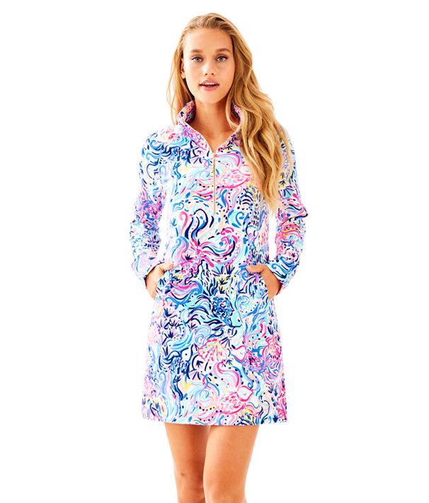 UPF 50+ Skipper Printed Popover Dress, , large