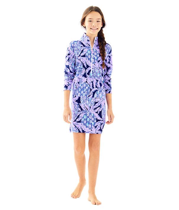 Girls Mini Skipper Dress, Lilac Verbena Pop Up Coco Safari, large
