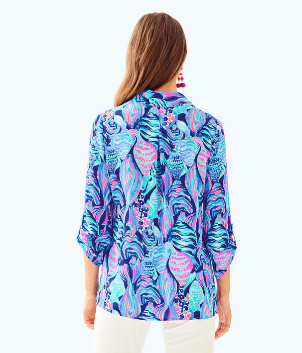 Everglades Top, Twilight Blue Scale Up, large