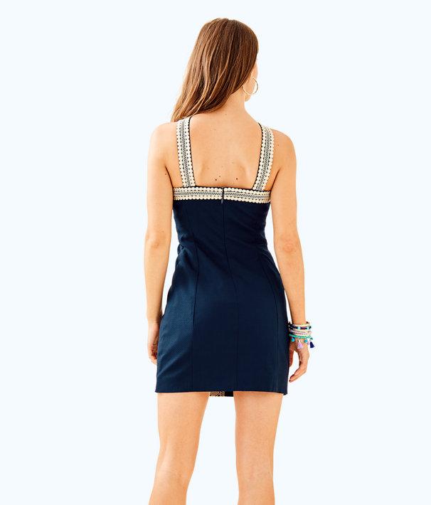 Vena Stretch Shift Dress, True Navy, large