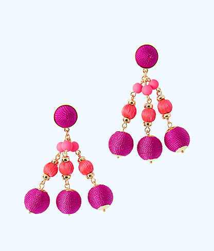 Slathouse Soiree Earrings, Blackberry, large